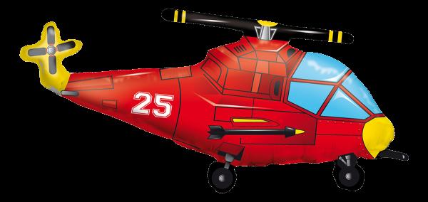 "Kaleidoscope Folienballon Helikopter 90cm/36"" SP"