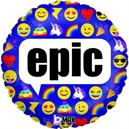 "Betallic Folienballon 46cm/18"" Emoji Epic"