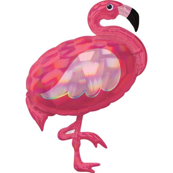 Anagram Folienballon 71cm Breit/83cm Hoch Iridescent Flamingo Pink Holo