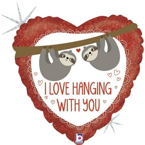 "Betallic Folienballon 45cm/18"" Love Hanging Sloth"