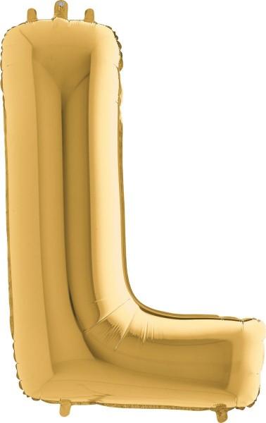"Grabo Folienballon Buchstabe L Gold 100cm/40"""