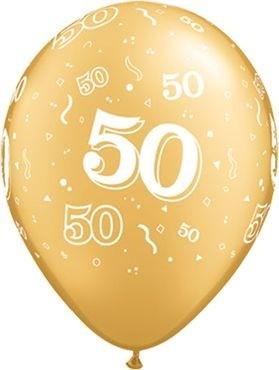 "Qualatex Latexballon 50-A-Round Gold 28cm/11"" 25 Stück"