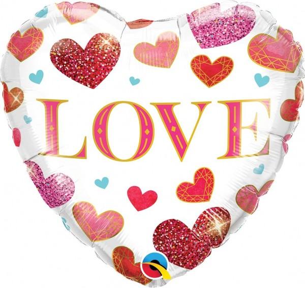 "Qualatex Folienballon ""Love"" 45cm/18"""