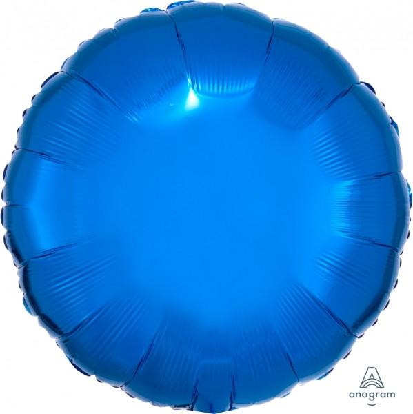 "Anagram Folienballon Rund Metallic Blue 45cm/18"""