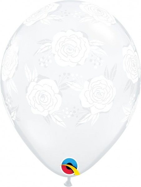 "Qualatex Latexballon Roses in Bloom 28cm/11"" 25 Stück"