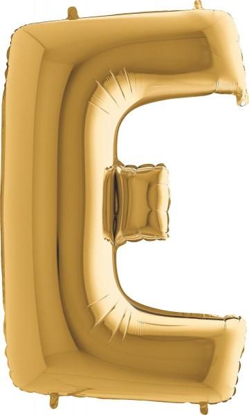 """Grabo Folienballon Buchstabe E Gold 100cm/40"""""""