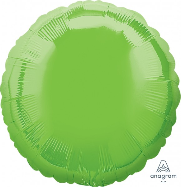 Anagram Folienballon Rund Hellgrün (Iridescent Lime Green) 18""