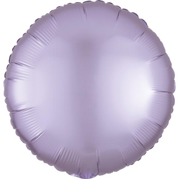 "Anagram Folienballon Rund Satin Luxe Pastel Lilac 45cm/18"""
