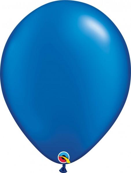 "Qualatex Latexballon Radiant Pearl Sapphire Blue 40cm/16"" 50 Stück"