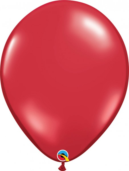 "Qualatex Latexballon Jewel Ruby Red 40cm/16"" 50 Stück"