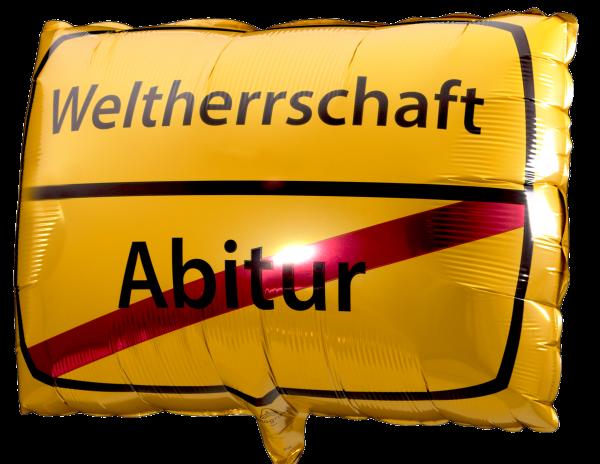 """Anagram Folienballon Junior Shape """"Abitur - Weltherrschaft"""" 43 x 30 cm"""