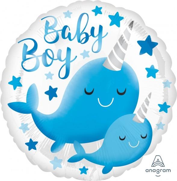 "Anagram Folienballon ""Narwal-Baby"" 45cm/18"""