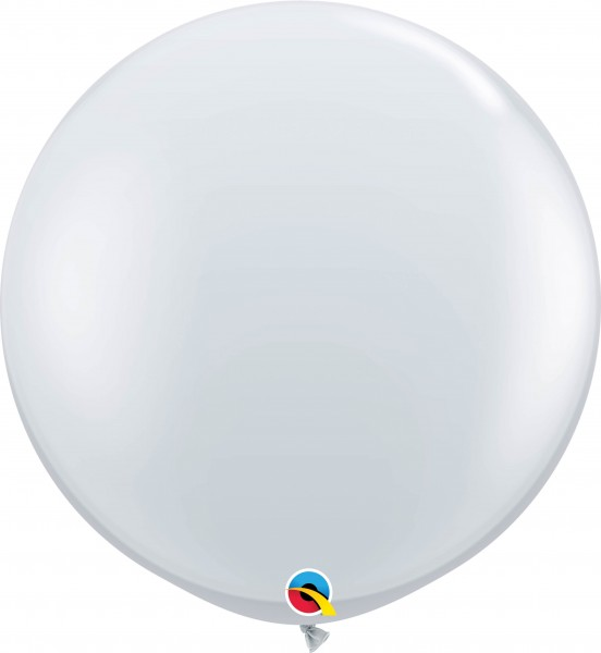 Qualatex Latexballon Jewel Diamond Clear 90cm/3' 2 Stück