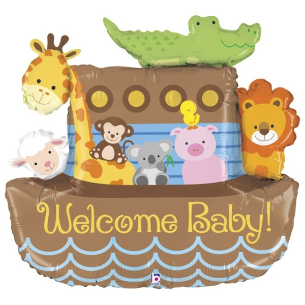 "Betallic Folienballon Noah's Ark Welcome Baby 94cm/37"""