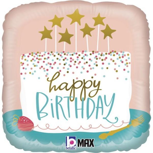 "Betallic Folienballon Birthday Confetti Cake 46cm/18"""
