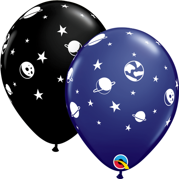 "Qualatex Latexballon Celestial Fun Navy und Black 28cm/11"" 25 Stück"