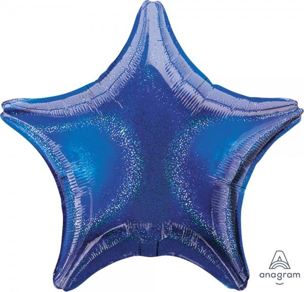 "Anagram Folienballon Stern Blue Dazzler 50cm/20"""
