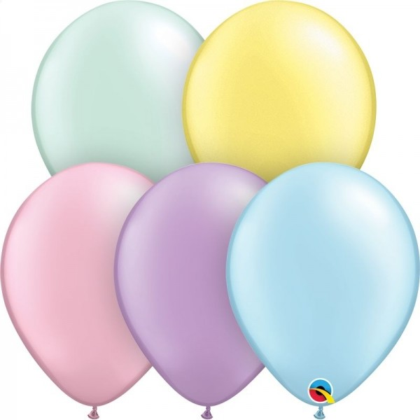 "Qualatex Latexballon Pastel Pearl Assortment 13cm/5"" 100 Stück"