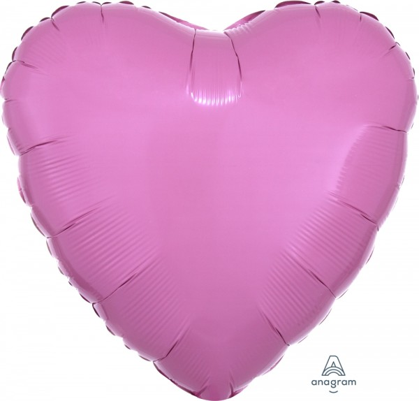 "Anagram Folienballon Herz Metallic Pink 45cm/18"""