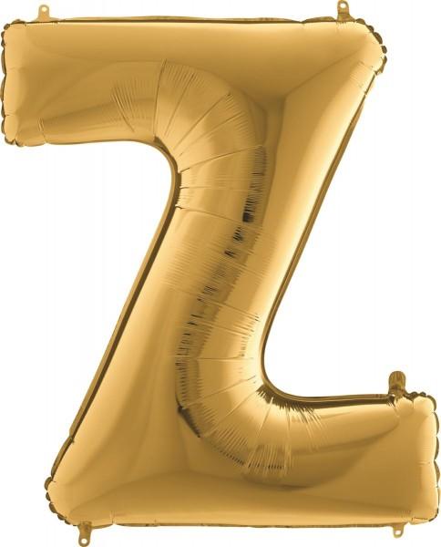 "Grabo Folienballon Buchstabe Z Gold 100cm/40"""