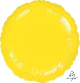 Anagram Folienballon Rund Metallic Yellow 45cm/18""