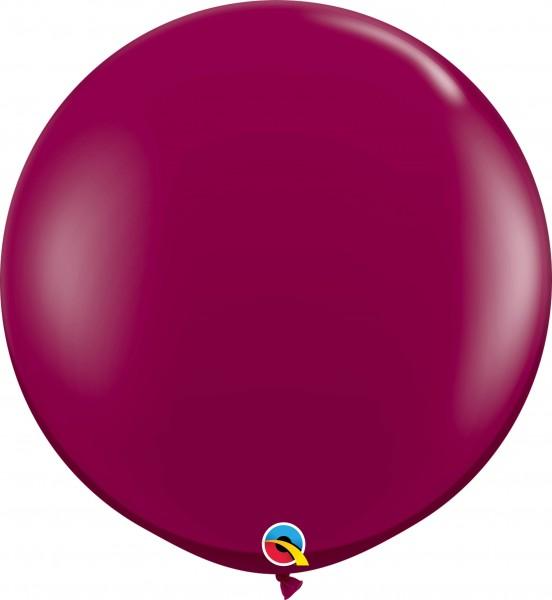 Qualatex Latexballon Jewel Sparkling Burgundy 90cm/3' 2 Stück