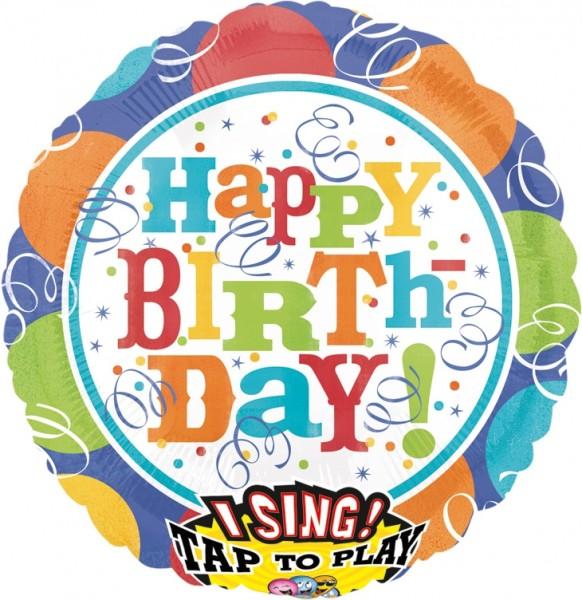 Anagram Folienballon Sing-A-Tune Balloons & Streamers Happy Birthday