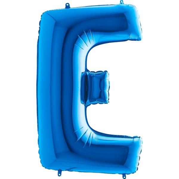 """Grabo Folienballon Buchstabe E Blue 100cm/40"""""""