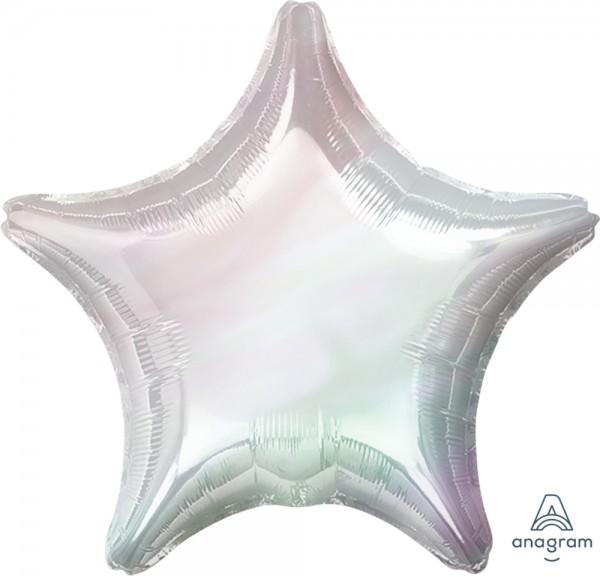 """Anagram Folienballon Jumbo Stern Iridescent Holo 80cm/32"""""""