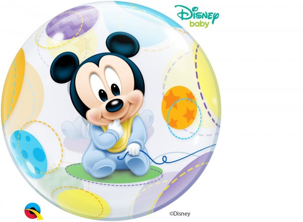 """Qualatex Bubbles Baby Mickey Mouse 56cm/22"""""""