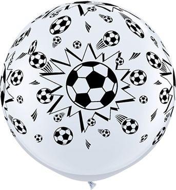 Qualatex Latexballon Soccer Balls-A-Round White 90cm/3' 2 Stück