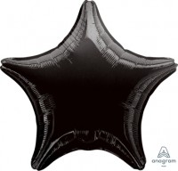 "Anagram Folienballon Stern Black 50cm/20"""