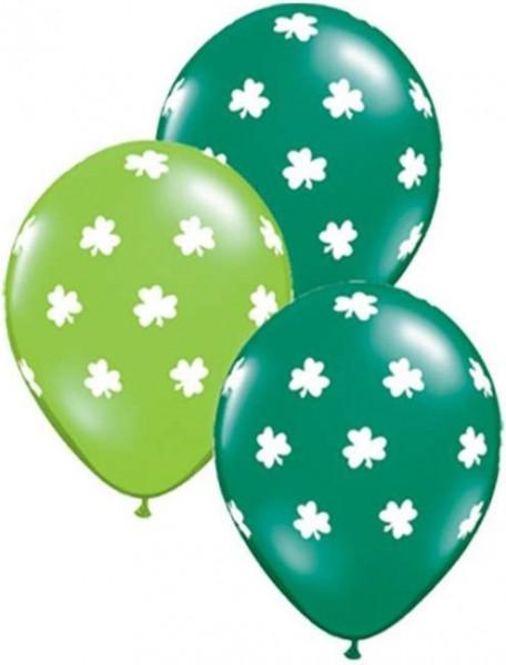 "Qualatex Latexballon Big Shamrocks Jewel Lime Emerald Green 28cm/11"" 25 Stück"