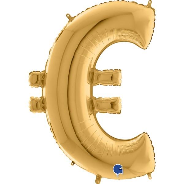 "Grabo Folienballon Zeichen € Gold 100cm/40"""