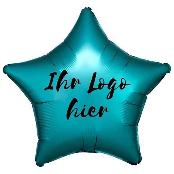 "Folien-Werbeballon Stern Satin Luxe Jade 50cm/20"" 1-Seitig bedruckt"