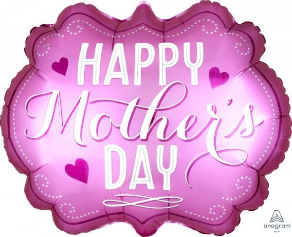 "Anagram Folienballon 62cm Breite/55cm Hoch ""Happy Mothers Day"" Pink"