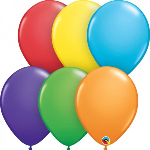 "Qualatex Latexballon Bright Rainbow Assortment 28cm/11"" 100 Stück"