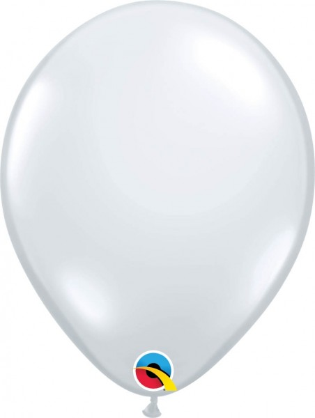 "Qualatex Latexballon Jewel Diamond Clear 28cm/11"" 100 Stück"