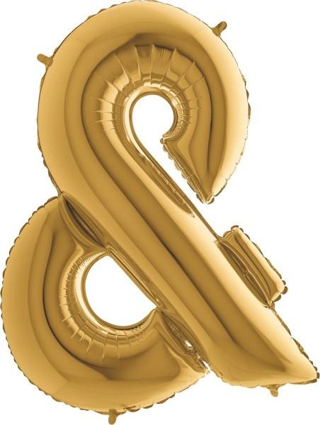 "Grabo Folienballon Zeichen & Gold 100cm/40"""