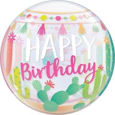 """Qualatex Bubbles Llama Birthday Party 55cm/22"""""""