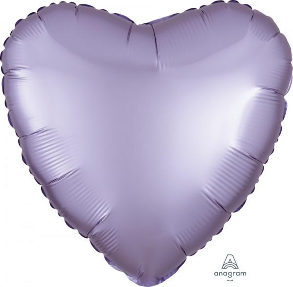 "Anagram Folienballon Herz Satin Luxe Pastel Lilac 45cm/18"""