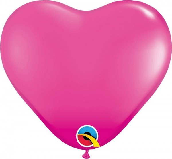 "Qualatex Latexballon Fashion Wild Berry Heart 15cm/6"" 100 Stück"