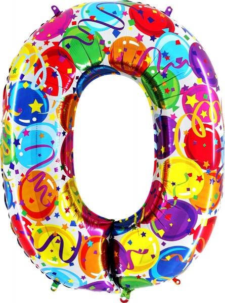 "Folienballon Zahl Party 100cm/40"""