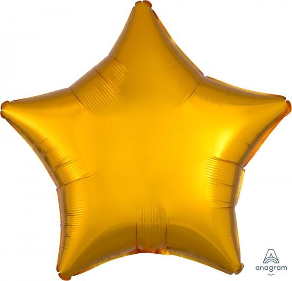 "Anagram Folienballon Stern Metallic Gold 50cm/20"""