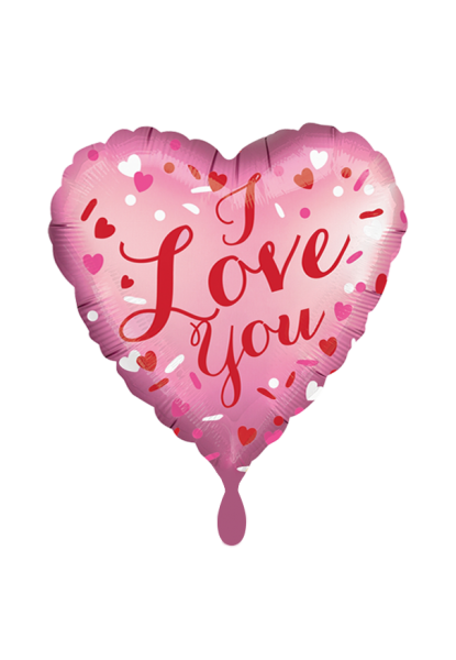 Anagram Folienballon Herz Satin I Love You Rosa 45cm/18""