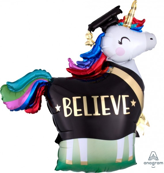Anagram Folienballon 80cm Breite/80cm Hoch SuperShape Believe Unicorn