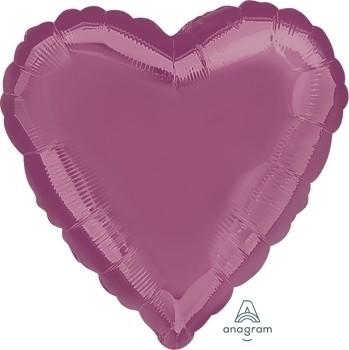 Anagram Folienballon Herz 45cm Durchmesser Metallic Lavendel (Metallic Lavender)