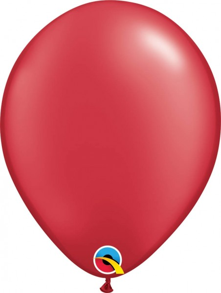 "Qualatex Latexballon Radiant Pearl Ruby Red 28cm/11"" 100 Stück"