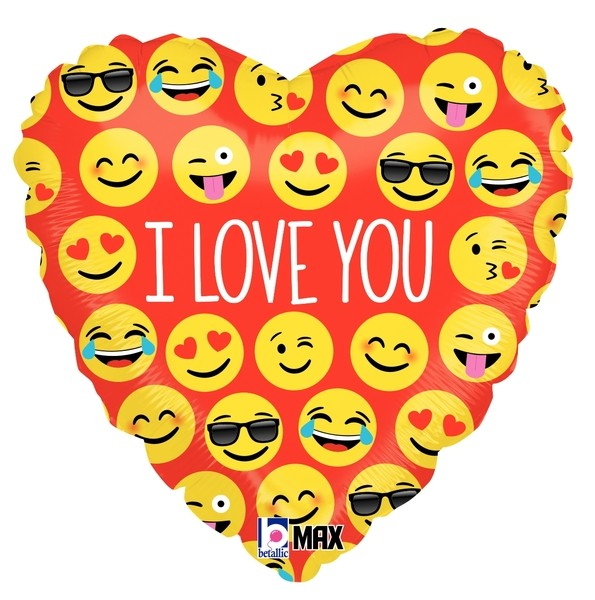 Betallic Folienballon Emoji I Love You 45cm/18""
