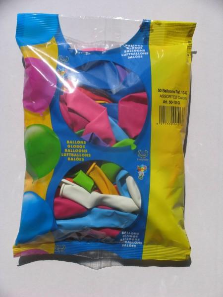 "Globos Latexballon Rund Bunt 25cm/10"" 30er Packung"